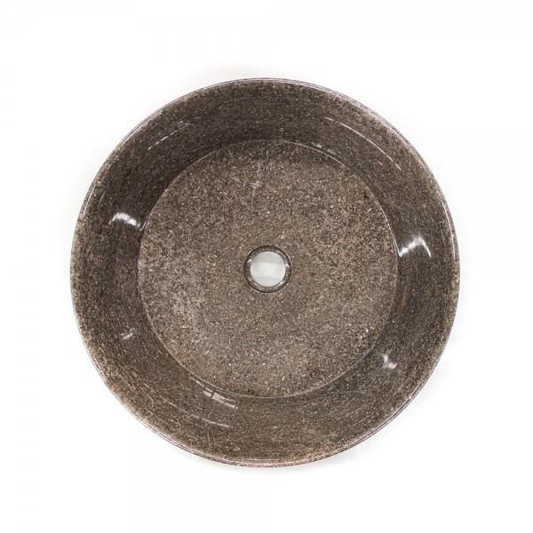 Ovalin de mármol gris pulido gratus (Mediano) 063MM-GT-4040 - SUKABUMI STONE MÉXICO