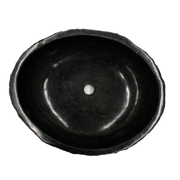 Ovalin de Mármol Jurásico Negro 075MM-JR-NG-4050-271