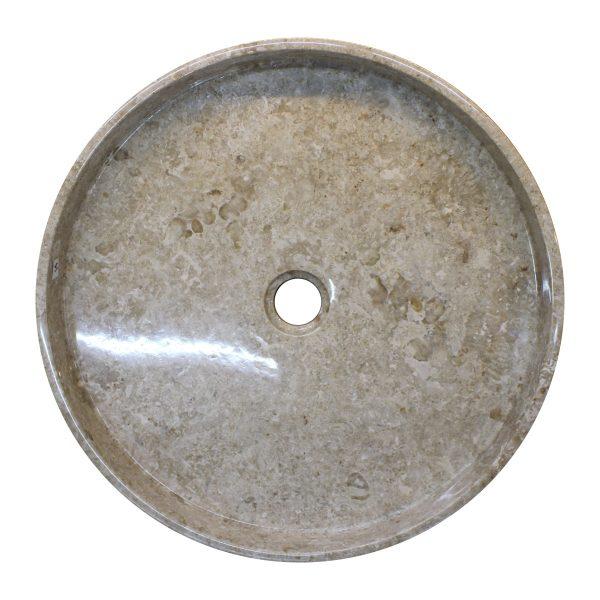 Ovalin de mármol crema m pulido 079MM-EOS-CR-4545 - SUKABUMI STONE MÉXICO