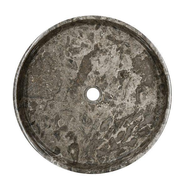 Ovalin de mármol gris puro m pulido 080MM-PR-GR-4545-275