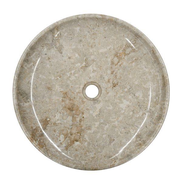Ovalin de mármol crema EA M pulido 076MM-EA-CR-4545 - SUKABUMI STONE MÉXICO